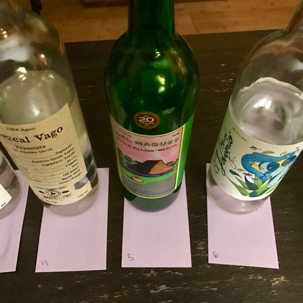Agave Tepextate Mezcal - Blind Tasting bottles