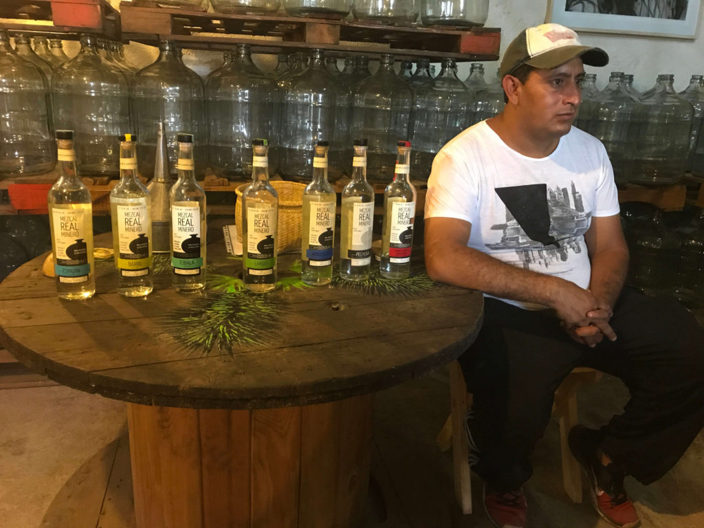 Edgar Angeles at Mezcal Real Minero palenque