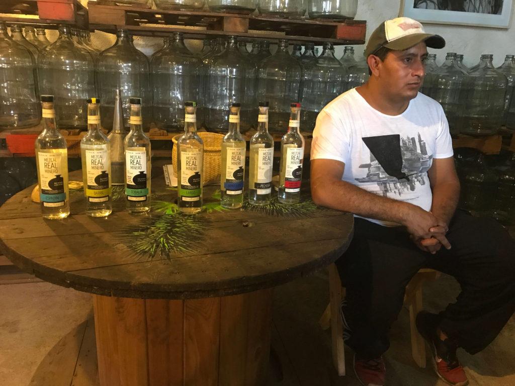 Edgar Angeles at Mezcal Real Minero palenque