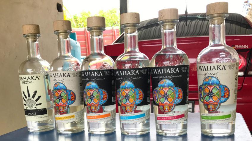 Wahaka Bottles Tasting