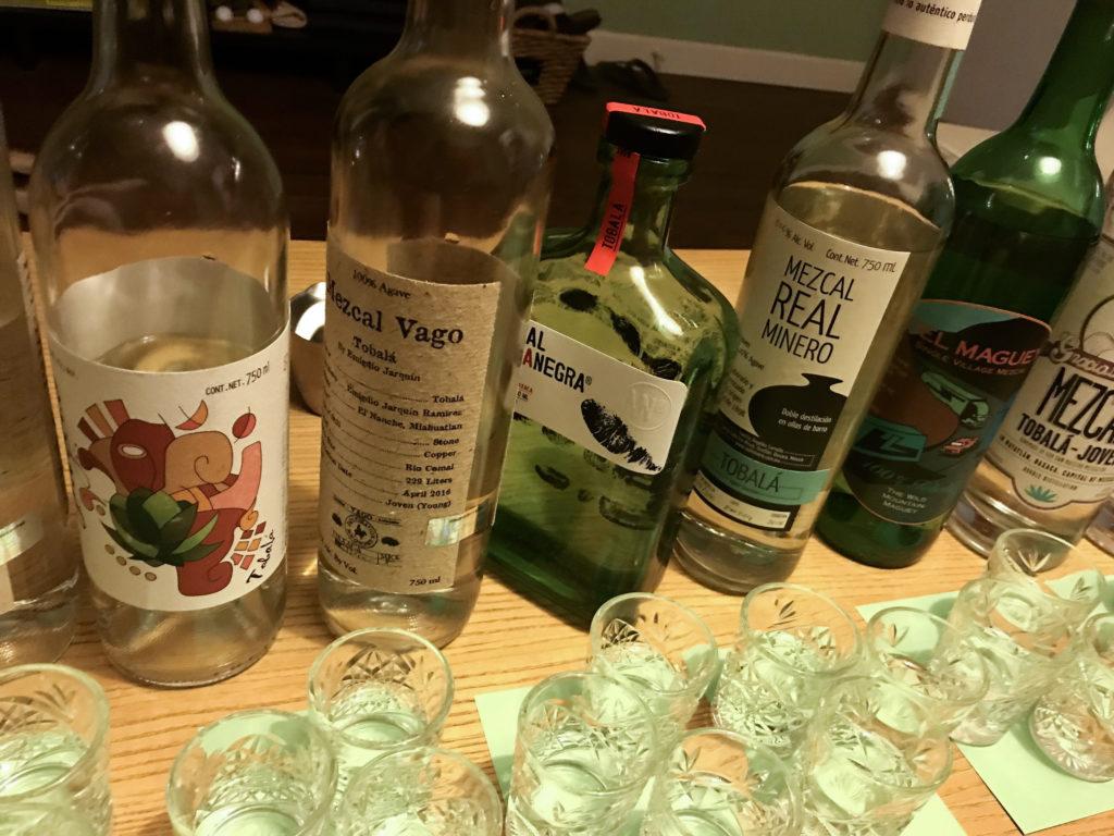 Agave Tobala Mezcal Blind Tasting Bottles