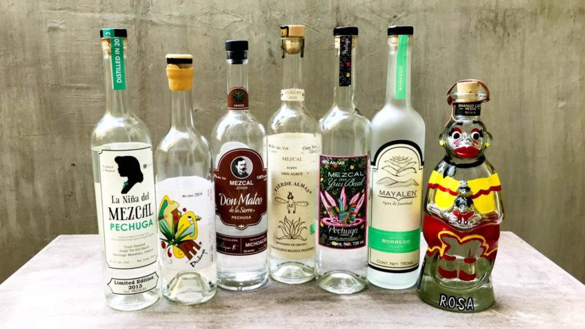 Mezcal Reviews Pechuga Blind Tasting bottles