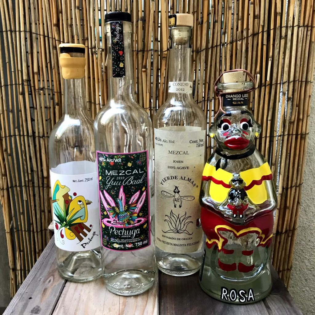 Mezcal Reviews Pechuga Blind Tasting four bottles