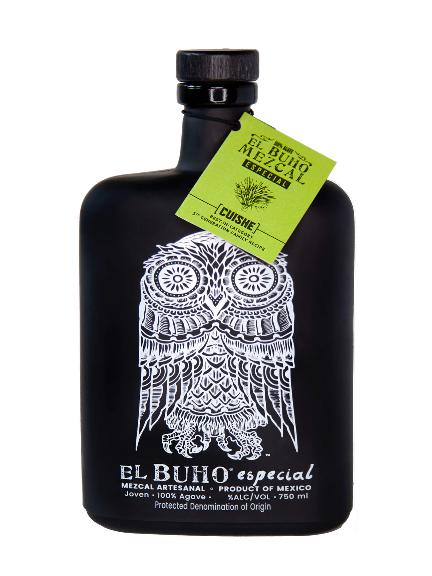 El Buho Cuishe Mezcal bottle