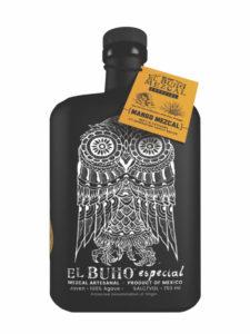 El Buho Mango Mezcal bottle