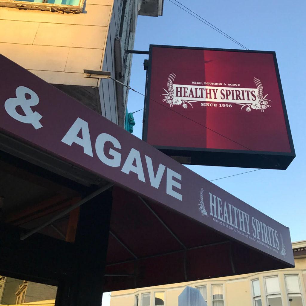 Outside Healthy Spirits on Cortland Avenue