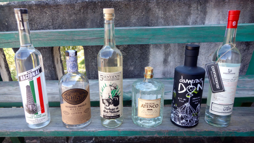 Six bottles of mezcal