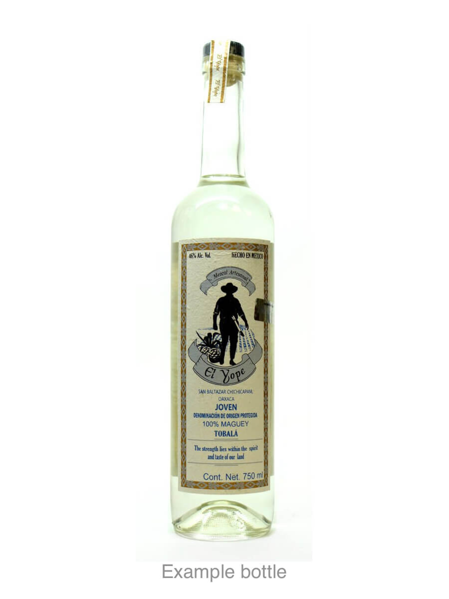 Mezcal El Yope example bottle