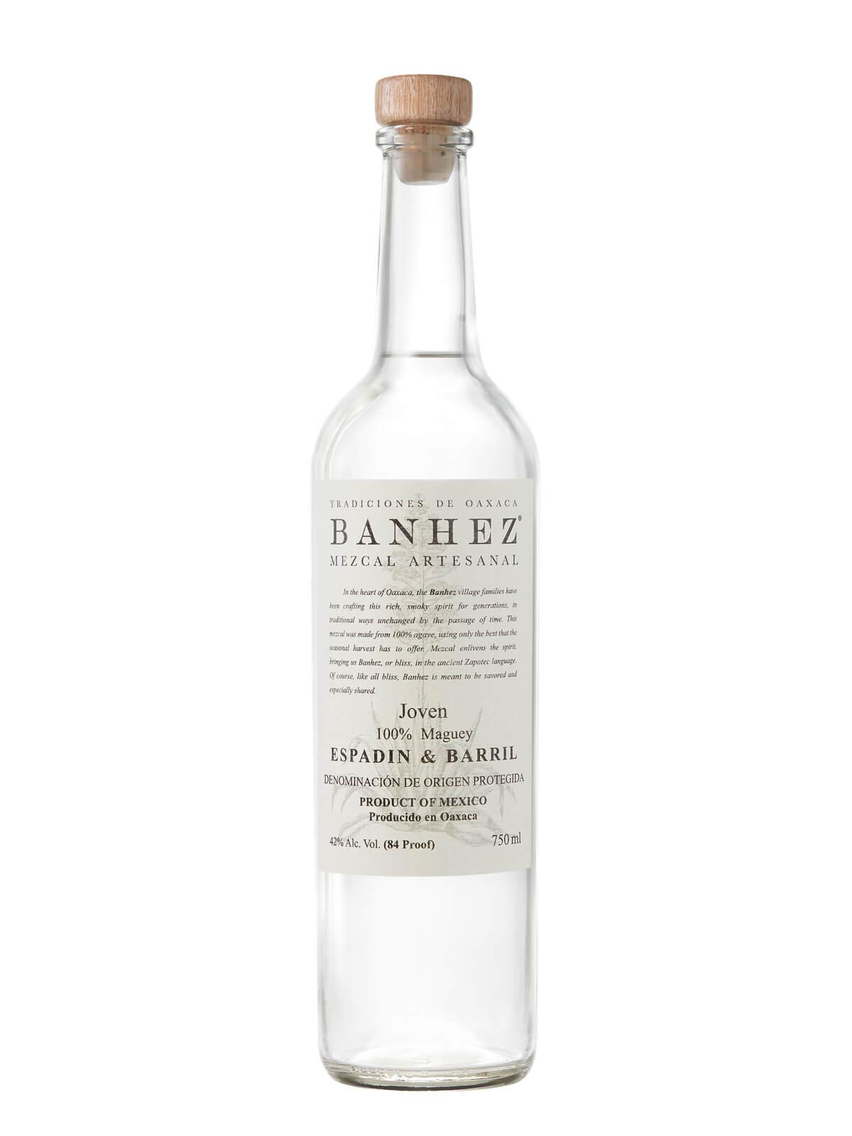 Banhez Mezcal Espadin & Barril bottle