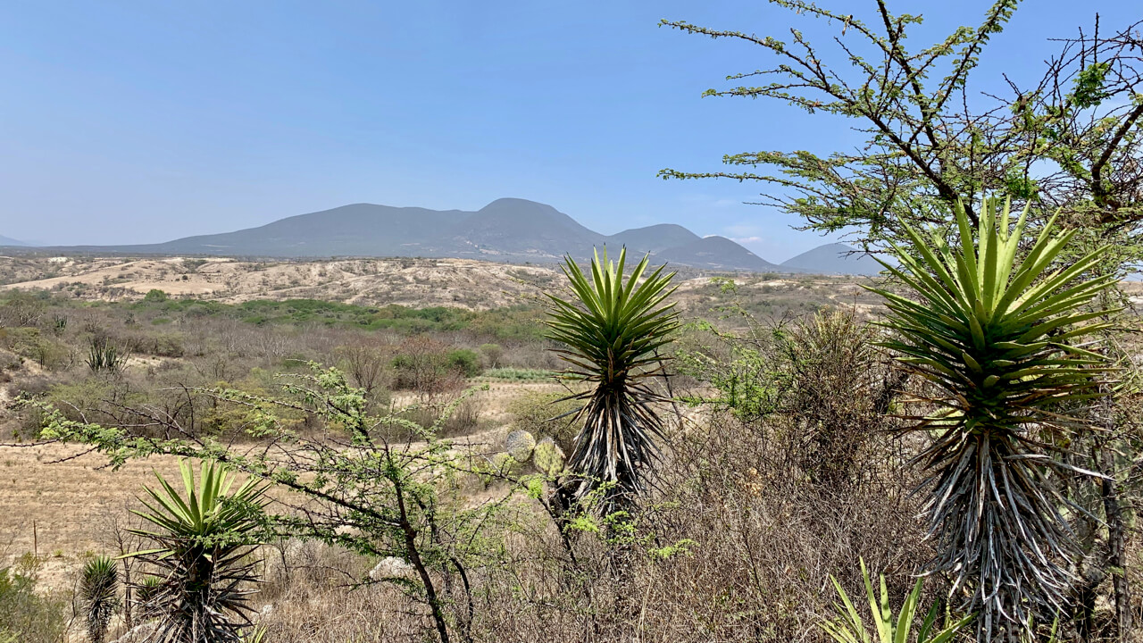 View of Miahuatlan, Oaxaca, Mexico