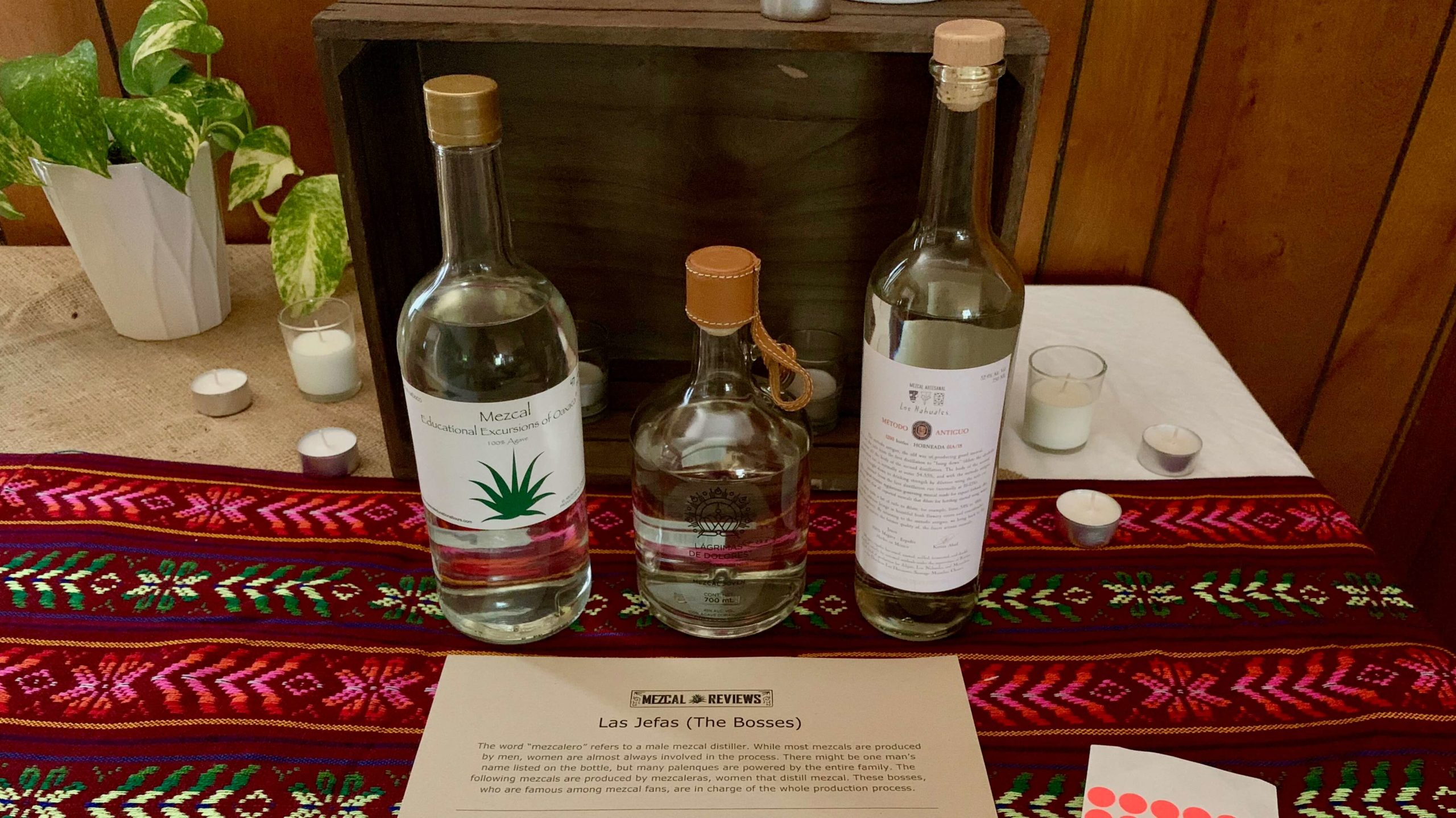 Mezcal Reviews Tasting Mezcalera Flight