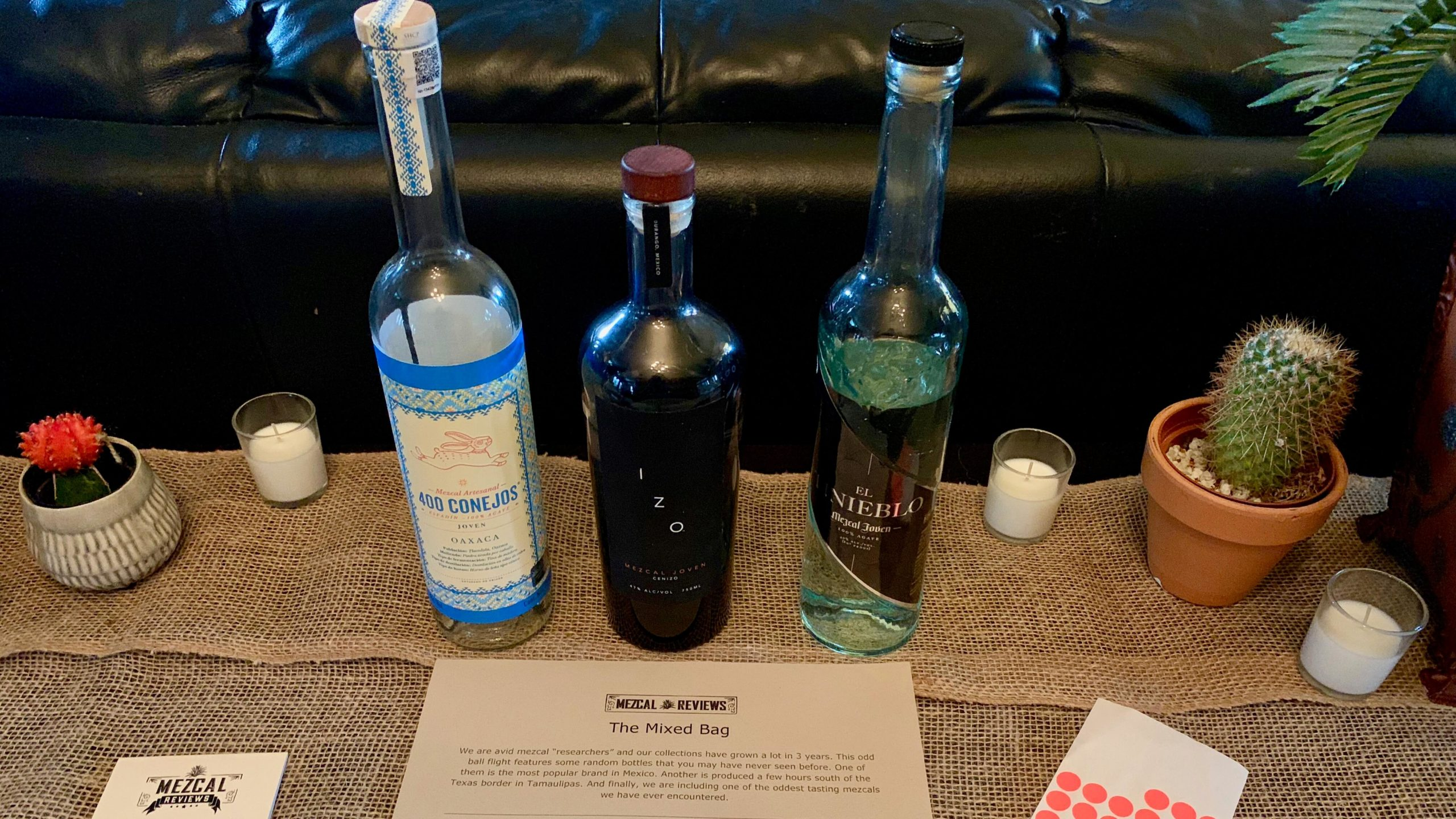 Mezcal Reviews Tasting Mixed Bag Flight
