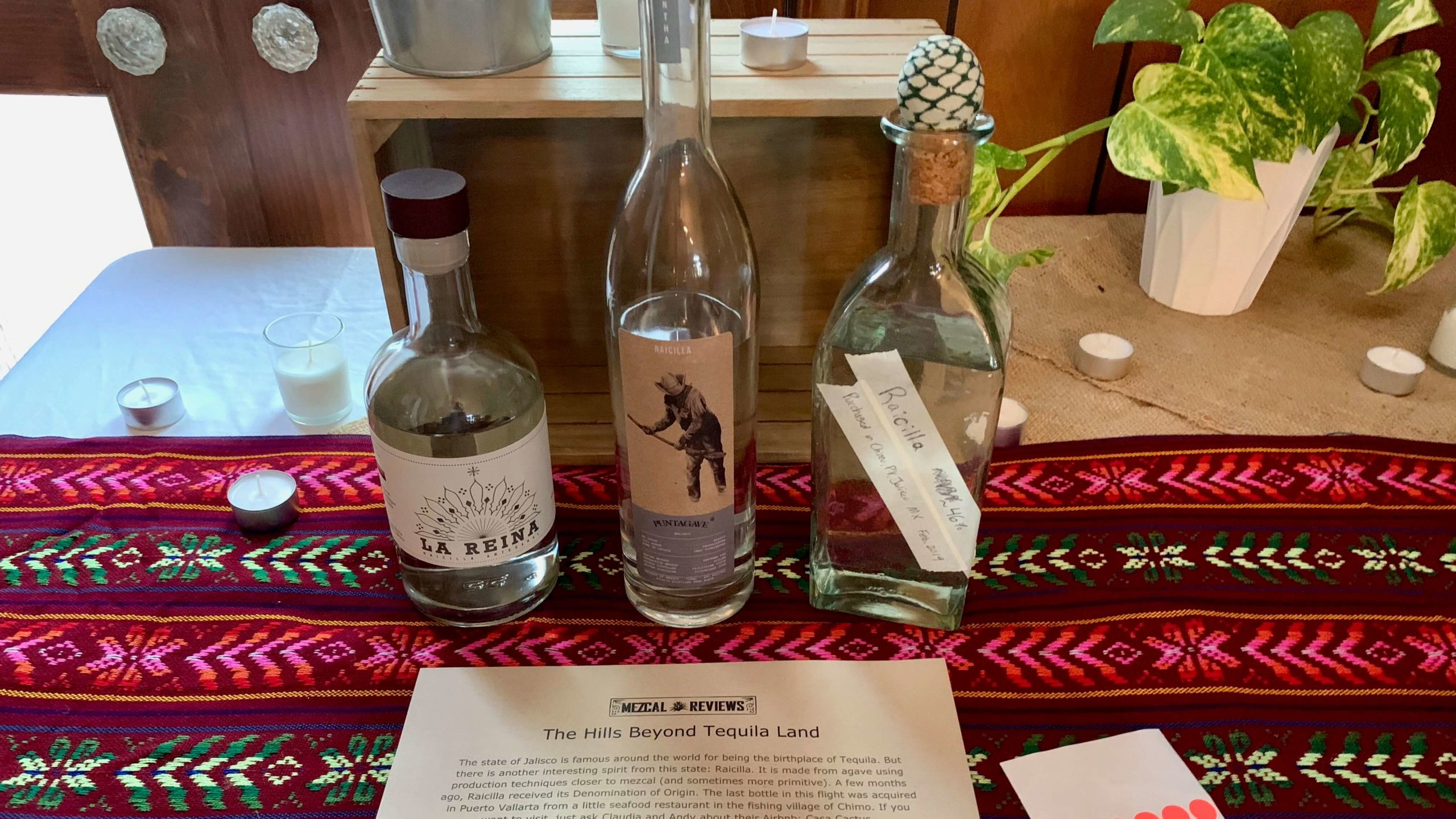 Mezcal Reviews Tasting Raicilla Flight