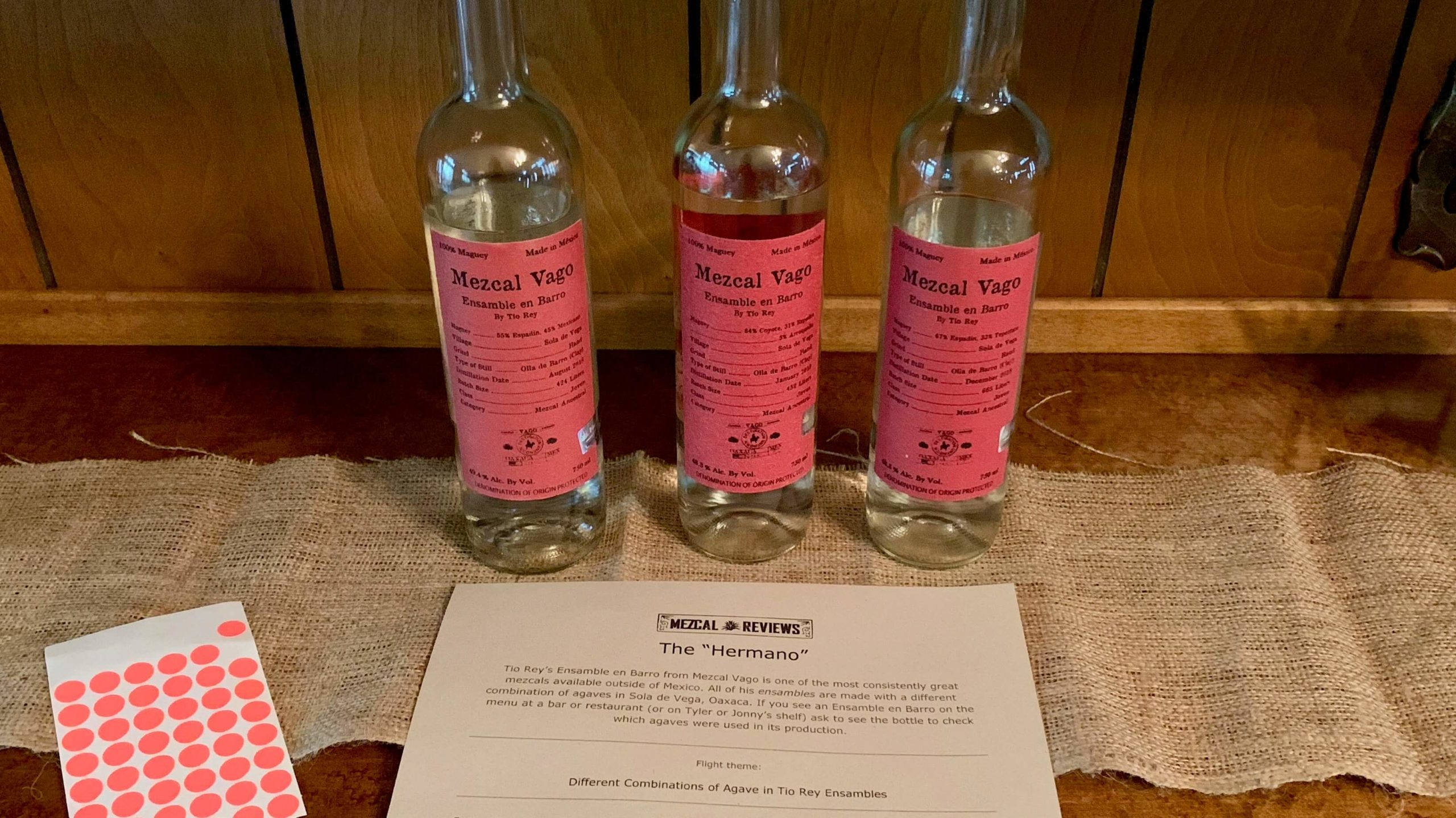 Mezcal Reviews Tasting Tio Rey Flight