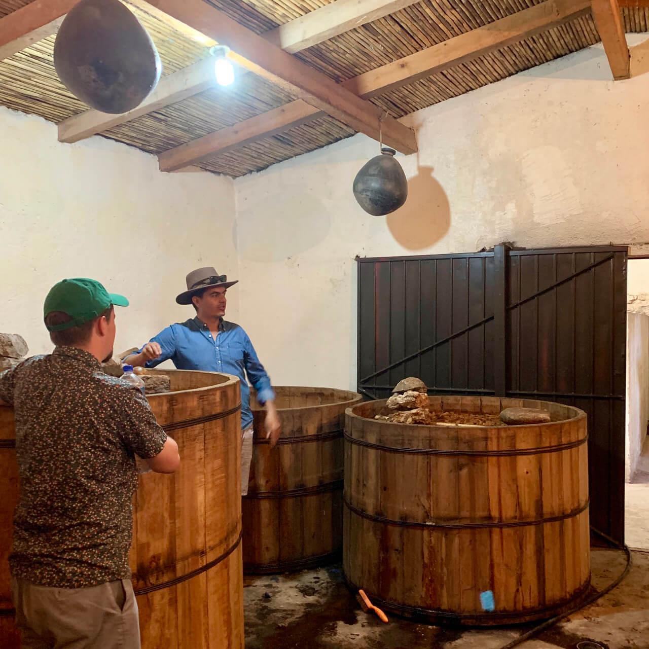 Viejo Indecente fermentation room