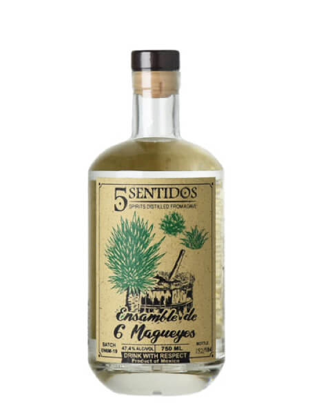 5 Sentidos Ensamble de 6 Magueyes bottle