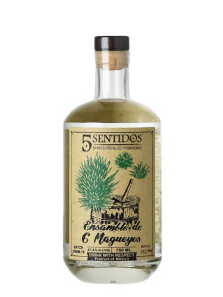5 Sentidos Ensamble de 6 Magueyes bottle