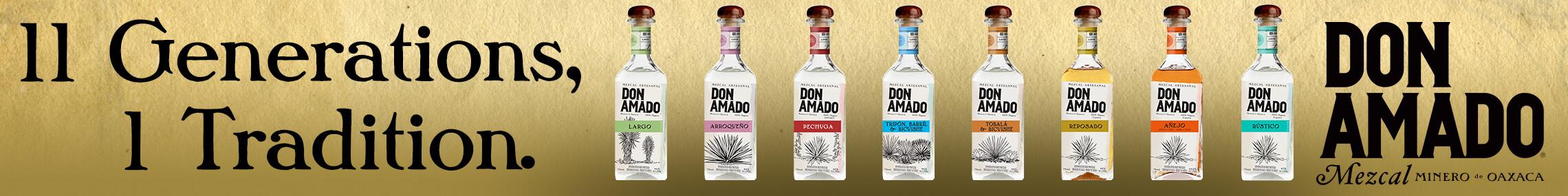 Mezcal Don Amado advertisement