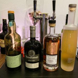 Scotch Whisky Mezcal Tasting Bottles