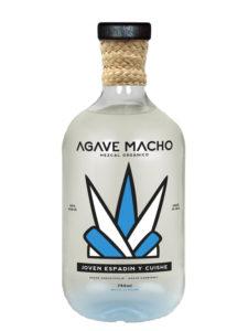 A bottle of Agave Macho Espadin-Cuishe ensamble joven mezcal