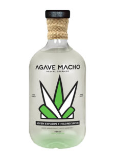 A bottle of Agave Macho Espadin-Madrecuishe ensamble mezcal