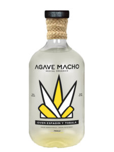 A bottle of Agave Macho Espadin-Tobala ensamble mezcal