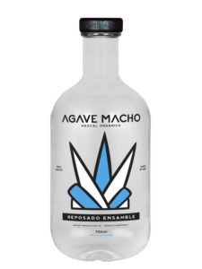 A bottle of Agave Macho Espadin-Cuishe ensamble resposado mezcal