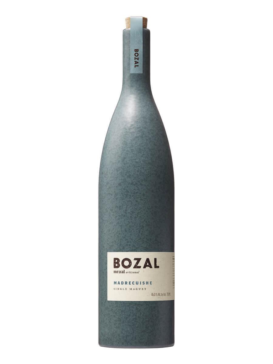 A bottle of Bozal Madrecuishe mezcal