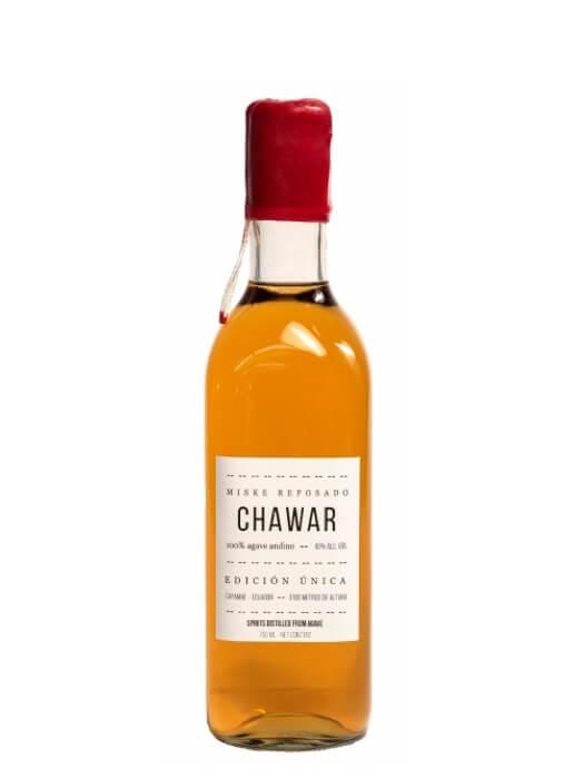 A bottle of Chawar Miske Reposado