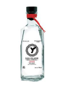 A bottle of Mezcal Casa Velador Joven