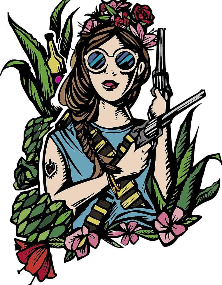 Lucy Pistolas Mezcal Brand Logo