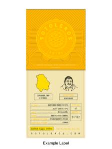 Sotoleros Bienvenido Fernandez bottle label
