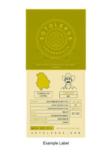 Sotoleros Lupe López Ensamble bottle label