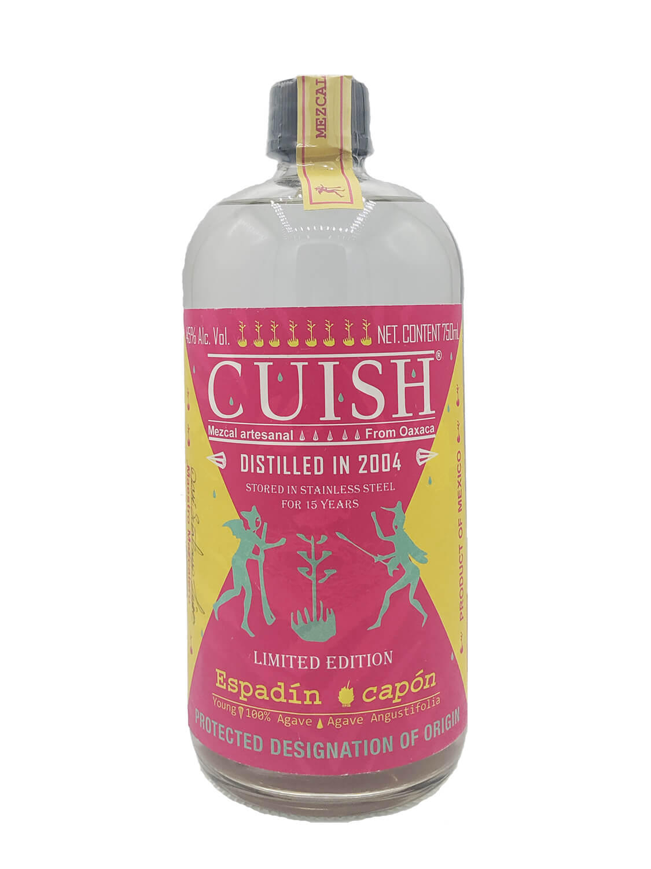 Cuish Espadin Capon 2004 mezcal bottle