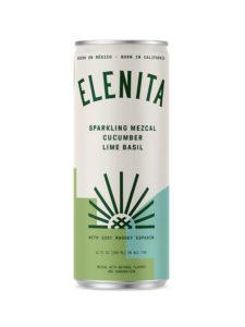 Elenita Sparkling Mezcal Cucumber Lime Basil can