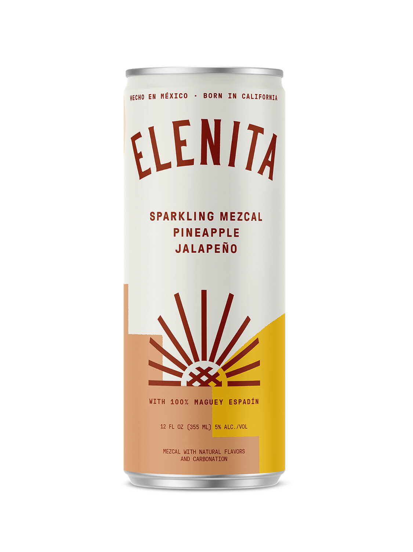 Elenita Sparkling Mezcal Pineapple Jalapeño can