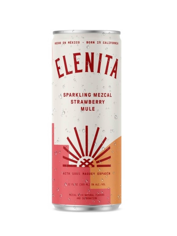 Elenita Sparkling Mezcal Strawberry Mule can