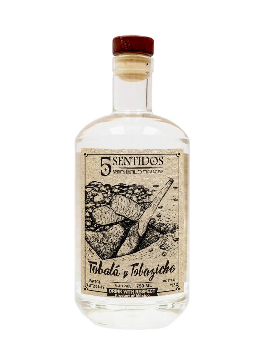 Cinco Sentidos Tobala and Tobaziche bottle from Tio Pedro
